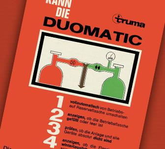 duomatic gas cylinder system